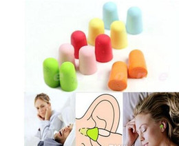 Wholesale Drop Shipping Bullet - Newest Foam Sponge Earplugs Great for travelling & sleeping reduce noise bullet shape Ear plug randomly color gift drop shipping