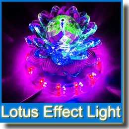 Wholesale Light Effect Flash - Rotating RGB LED KTV Disco Party Pub Crystal Lotus Lamp Stage Effect Light KTV Flash Stage Lighting