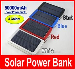 Wholesale Solar Charge Bank - 50000 mah Solar Charger and Battery 50000mAh Solar Panel Dual Charging Ports portable power bank for All Cell Phone table PC MP3