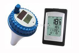 Termometro di nuoto online-Termometro a temperatura fluttuante SPA con piscina digitale wireless con 3 canali / allarme orario / calendario-ingrosso