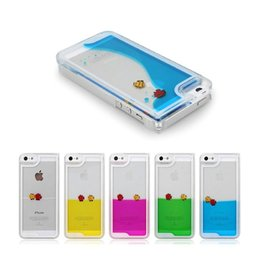 Wholesale Apple Fish - Case for iPhone 4 4S 4G 5 5S 6 4.7inch Plus 5.5inch Liquid Free Swimming Fish Dynamic Ocean Sea World Quicksand Transparent Back Cover 100pc