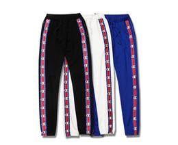 Wholesale Bottoming Pencil Pants - Men women sport sweat Pants White Black Blue Cotton Pencil pants Men's Jogger Pants Sweatpants Casual Trousers Bottom Tracksuit jacket