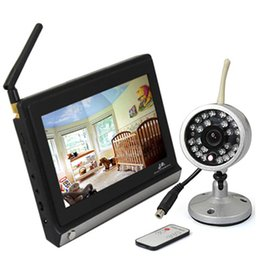 Wholesale Camera Av Out - 7 Inch TFT LCD 2.4GHz Wireless Baby Monitor with Night Vision +1pcs Wireless Outdoor Camera AV OUT