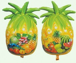 Wholesale Cheap Balloons Free Shipping - free shipping 30pieces lot party inflatables Pineapple shape metallic balloons cheap helium balloons foil balloons