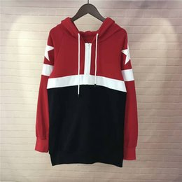 Wholesale Fit French - Men's Luxury Space Cotton Patchwork Hoodie French Fashion White Star Badge Design Sweatshirt Boys' Loose Fit Zipper Pullover Top Winter