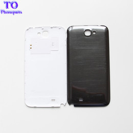 Wholesale Battery Note2 - Back Cover Case For Samsung Galaxy Note 2 N7100 Note2 Battery Door Rear Housing Black White