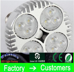Wholesale Led Lighting For Shop - LED PAR30 40W 50W LED Spotlight Par 30 20 led bulb with Fan for jewelry clothing shop gallery track rail light museum lighting CREE