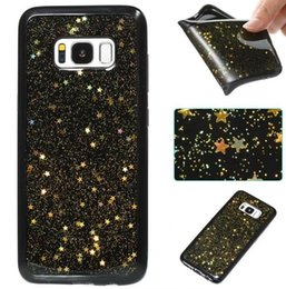 Wholesale Cellphone Star - Shiny Stars Cellphone Cases Soft Dirt Resistant TPU Covers For Iphone x 6s 7 8 Plus Samsung S8 Plus Note8 S7 Edge Huawei P10 Lite Oppbag