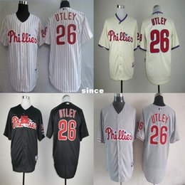 Wholesale Factory Outlet Philadelphia Phillies Chase Utley Sport Jersey Embroidery Logos White Grey Cream Black Stitched Hot Sale Baseball Jerseys
