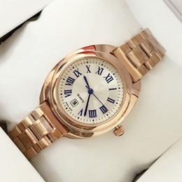 Wholesale Elegant Gold Dresses - 2017 Fashion Lady Quartz Watch Elegant Women Dress Relogio Famous Luxury Brand Rose gold Stainless Steel Silver Wristwatches Roman scale