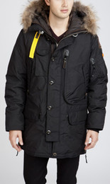 Wholesale Long Puffer - Original brand men winter down parkas big fur collar thick warm goose down jacket with metal buckle Puffer coat