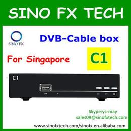 Wholesale Blackbox Hdmi - Free shipping Streambox C1 HD cable receiver vs blackbox hd-c600 mini support IPTV CCCAM NEWCAMD starhub cable tv box