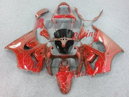 Luzes ninja zx6r on-line-inventario kawasaki ninja zx6r 2000-2002 conjunto di plastica della carenatura del corpo frete grátis + 8 presentes + adesivos + luz piscando colorido