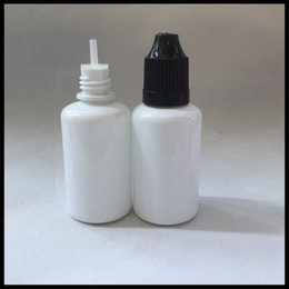 Wholesale Wholesale Plastic Milk Bottle - 30ml Eliquid Dropper Bottle Plastic With Needle Tip Milk White Bottle And Childproof Cap For Ecig Juice E