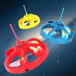 Wholesale Ufo Leds - Wholesale-2pcs Floating UFO Toy Flashing LEDs RC Helicopter Auto-induction Infrared Helicopter
