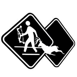Wholesale Roof Signs - Hunt Hunter Crossing Sign killed deer Shooter Vinyl Stickers Decals Car