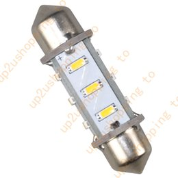 """Wholesale 2x 12 - 2x 36MM 12-3014 SMD LED Bulbs Car Interior Dome Lights, 1.50"""" Festoon Warm White for free shipping"""