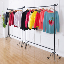 Wholesale Wholesale Bridal Stores - Wholesale-Excellent home then simply do the old wrought iron floor-clothing rack clothing store bridal clothing display