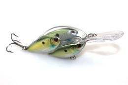 2019 modelos grossistas de lulas Atacado Peixe Bionic Shoal Pesca Iscas Duras De Plástico 3D Olhos Crankbait 6.5 cm 18g para Bass Fishing