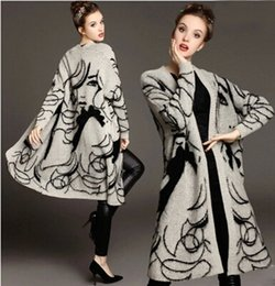 Wholesale Cardigan Sweaters Large Women - High Quality Long Cashmere Knitted Cardigan Women Casual Loose Sweater Fashion Large Lapel Sweater Coat Female for 2016 Autumn and Winter