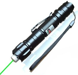 Wholesale Tactical Flashlight Clip - 1PC 532nm Tactical Laser Grade Green Pointer Strong Pen Lasers Lazer Flashlight Military Powerful Clip Twinkling Star Laser