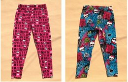 Wholesale Leggings Kids Design - Newest Free shipping Kids Pants,Monster high Leggings 4color Girls Casual Pants,Classic Design,Top Quality