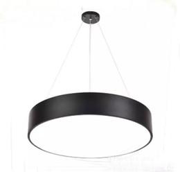 Wholesale Metal Suspension - Modern minimalism led hanging lights suspension lighting office led pendant light matte metal round pendnat lighting fixtures AC85-265V LLFA