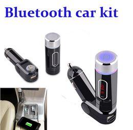 Wholesale Bluetooth A2dp Car Radio - Newest Wireless A2DP Bluetooth Car Kit Handsfree Car MP3 Player Universal FM Transmitter Modulator USB Charger Bluetooth Hands Free DHL Free