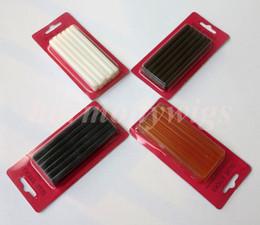 Wholesale Wholesale Glue Stick - Fusion keratin glue gun sticks 7mmx100mm for Glue gun 4colors 12pcs lot hair extension fusion tools