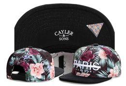 Wholesale paris flowers - Free Shipping New Design Snapback Hats PARIS BONJOUR Cayler & Sons Flower Snapbacks Baseball Sports Caps Hats TY