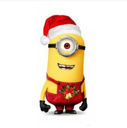Wholesale Mascot Character Minion - Fast Ship Merry christmas mascot Despicable me 2 minion costumes adult cartoon character costumes xmas party dress real picture ZJ1295