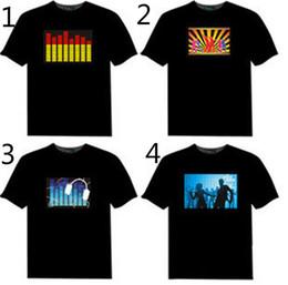 El geführtes hemd online-Led T-shirt Sound Control Iron Man Mode Persönlichkeit Kreative LED Benutzerdefinierte Musik Flash Kleidung Spectrum Dancer Activated Visualizer