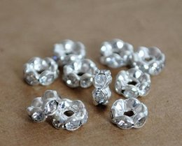 Wholesale Pearl Spacers - Hot sell rhinestone clip lace rhinestone spacer Pearl Jewelry Accessories 0294