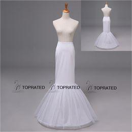 Wholesale Drop Ship Mermaid Dress - 12009 Free Size Mermaid Wedding Dresses Bridal Dresses Petticoat Underskirt Crinoline Without Target Drop Shipping One Hoop Two Layer