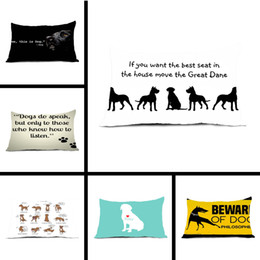 Wholesale Conceal Light - Wholesale- Pillow Case Great Dane Printed Throw Pillowcases Capa Para Almofada Conceal Zipper