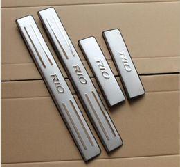 Wholesale Door Sill Kia - high quality!KIA RIO K2 stainless steel door sill plate door sill scuff plate, threshold 4pcs set