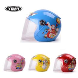 Wholesale Motorcycle Helmet Kids - High-grade children half face kids motorcycle and bicycle helmet children warm winter helmet 206