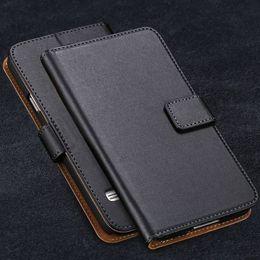 Caixa de telefone de couro de luxo galaxy s5 on-line-S5 virar leather case luxo carteira capa para samsung galaxy s5 sv i9600 completa proteger celular saco de couro genuíno carry case