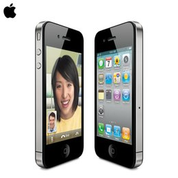 Wholesale Black Factory 3g - original Apple iphone 4 cell phone factory Unlocked 5MP Camera 32GB ROM Wifi GPS WCDMA 3G free shipping 1 year warranty