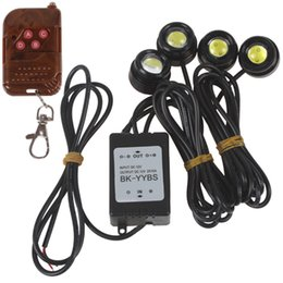 Wholesale Daytime Running Lights Remote - GPS Best seller! One to Four 4 x 1.5W Strobe Flash Eagle Eye LED Car Light Source Car LED Daytime Running Light with Wireless Remote