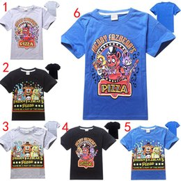 bear cartoon t shirts Coupons - 6 Design Boy Five Nights At Freddy's T-shirts 2016 new children cartoon bear Short sleeve T-shirts baby clothes B001