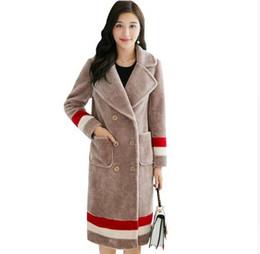 Wholesale Long Double Breasted Coat Women - Autumn winter 2017 New Fashion New Haining Imitation Sheared Sheep Imitation Fur Coat Big Yards Cultivate One's Morality Coat