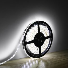 Wholesale Led Strips Lighting - 12V Flexible LED Strip Lights LED Tape Daylight White Waterproof, 60 LEDs M 300 Units 3528 LEDs Light Strips 16.4ft 5m LED Strips