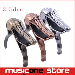 Wholesale Acoustic Capo - Alice A007G Crocodile Head Shape Folk Acoustic Guitar Quick Tuning Change Tune Capo Brand New capotraste Mu1286