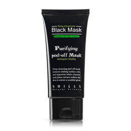 Wholesale Mask Top - 300pcs Top Quality SHILLS Black MASK Deep Cleansing  purifying peel-off mask   Clean Blackhead facial mask 50ML Free DHL