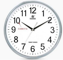 Wholesale Dvr Clock - WiFi Wall Clock Hidden Camera P2P Motion Detection Recording IP DVR Wireless