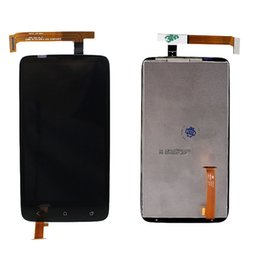 Wholesale one x screen lcd - Wholesale-New Black For HTC One X LCD Display Touch Screen Digitizer Assembly Glass with high quality Free shipping