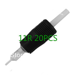 Wholesale Disposable Tattoo Grips 3r - Wholesale-100PCS TATTOO DISPOSABLE GRIP SILICONE RUBBER TIP TUBE BEST GRIPS ROUND TUBE 3R 5R 7R 9R 11R 14R 18R for tattoo needle machine
