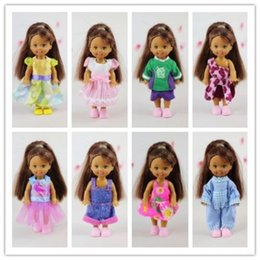 Wholesale Dress Shoes For Little Girls - Wholesale-Free Shipping! Wholesale Cheap 20 Items=10 cute dress Outfit Clothes +10 Shoes For Barbie's Sister Little Kelly