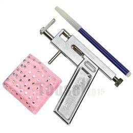 Wholesale Steel Body Piercing Tool - Women Ear Piercing Kit Disposable Safe Sterile Body Piercing Gun+ 98 Studs Stainless Steel Tool Pierce Metal FZJPE-5893
